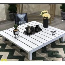 طاولة تقديم خدمة خشبية شرائح 100*100*20 سم
