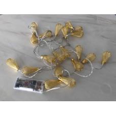 حبل اضاءة للزينة بطول3متر ومزود بـ 20مصباح ال اي دي، ويعمل بالبطاريات