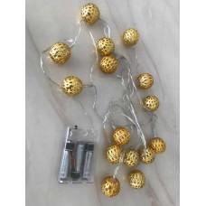 حبل اضاءة للزينة بطول 2 متر ومزود ب15مصباح ال اي دي، ويعمل بالبطاريات