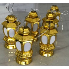 حبل اضاءة للزينة بطول1.5متر ومزود بـ6مصباح ال اي دي، ويعمل بالبطاريات