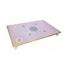 طاولة تقديم خدمة خشبية رمضان  120*76*12 سم