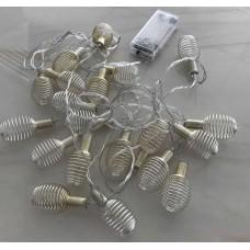 حبل اضاءة للزينة بطول 4 متر ومزود بـ 20مصباح ال اي دي، ويعمل بالبطاريات