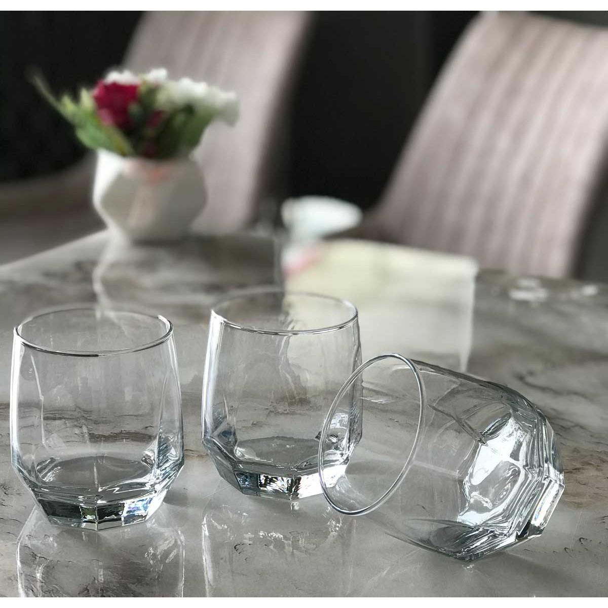 طقم كاسات زجاج تركي 3 قطع