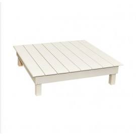 طاولة تقديم خدمة خشبية شرائح 100*100*20سم