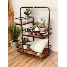 طاولة تقديم حديد بقاعدة خشب 40 * 60 سم