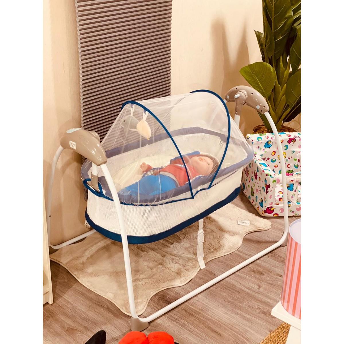 سرير اطفال اسفنج مع ناموسية كهرباء