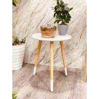 طاولة تقديم وخدمة خشب دائري 40*40*50سم