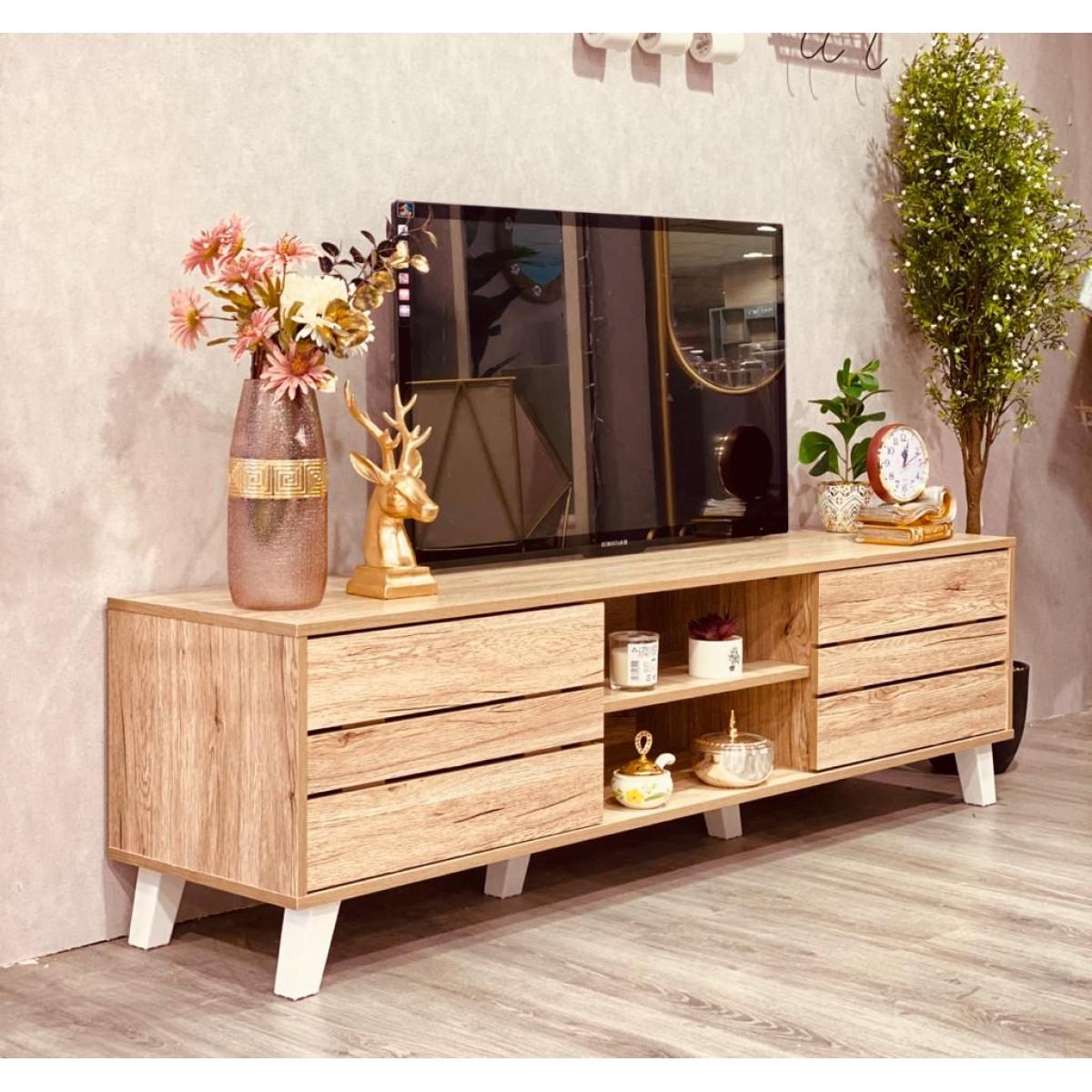 طاولة بلازما خشب مقاس 160*40*48 سم