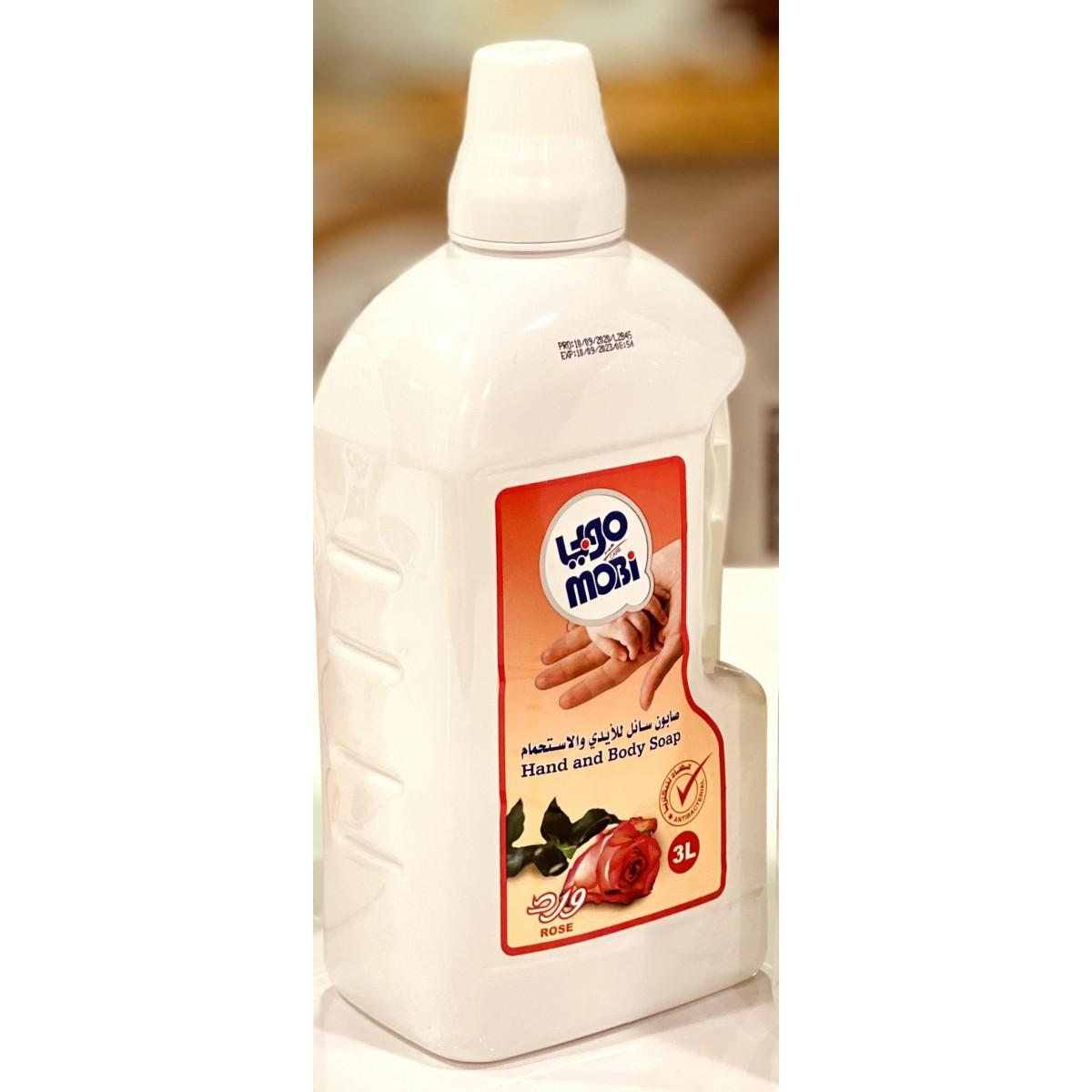 صابون سائل للأيدي موبي برائحة الورد 3 لتر