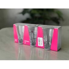 طقم كاسات زجاج 3 قطع متعدد الاستخدام