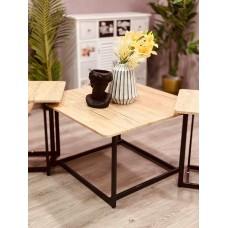 طقم طاولات خدمة تقديم خشبي 2*1