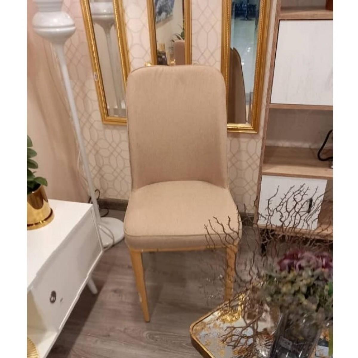 كرسي خشب قماش بارجل خشب